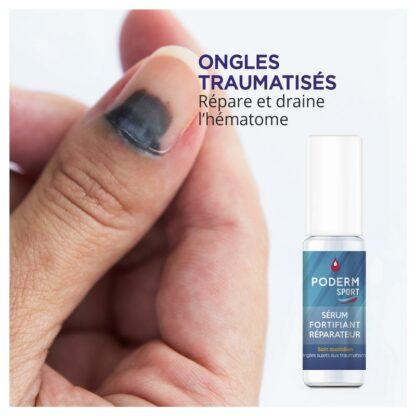 Soin réparateur pour ongle noirs ayant subi un traumatisme