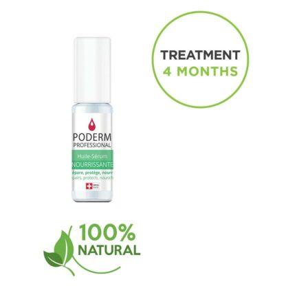 Sérum nourrissant Poderm pour ongles striés et cassants. Traitement rapide : 4 mois et naturel aux huiles essentielles.