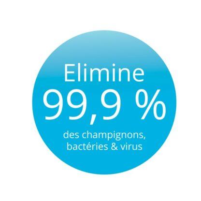 Traitement qui élimine 99% des bactéries et champignons : deodorant & anti transpirant